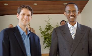 David Finkel with Rwandan President